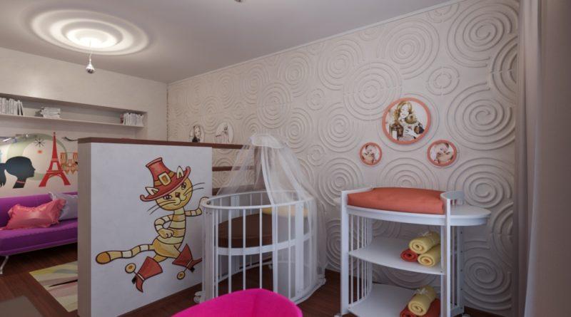 Интерьер однокомнатной квартиры для семьи с ребенком фото