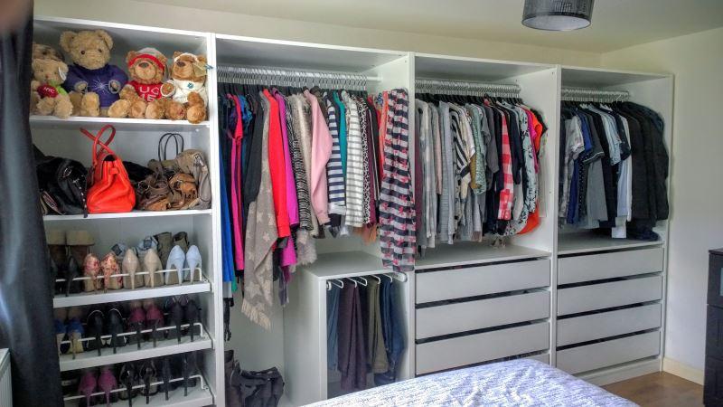 Идеи оформлоения гардеробной от ИКЕА