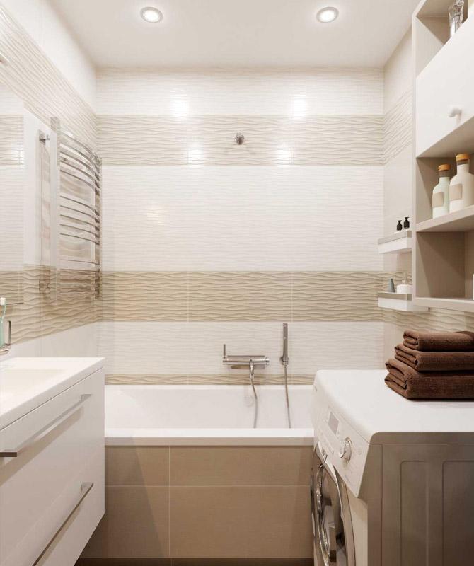Маленькая ванная комната. Дизайн с душевой кабиной