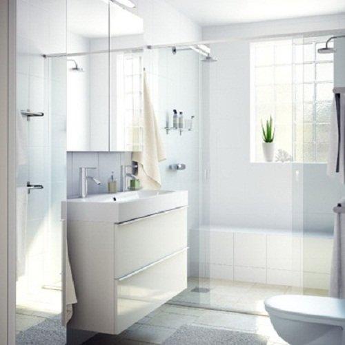 Мебель ИКЕА в интерьере ванной комнаты