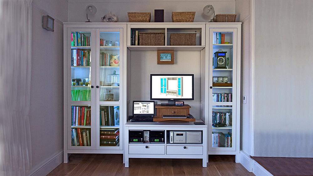 Модульные шкафы для гостиной - жизнь в стиле икеа.