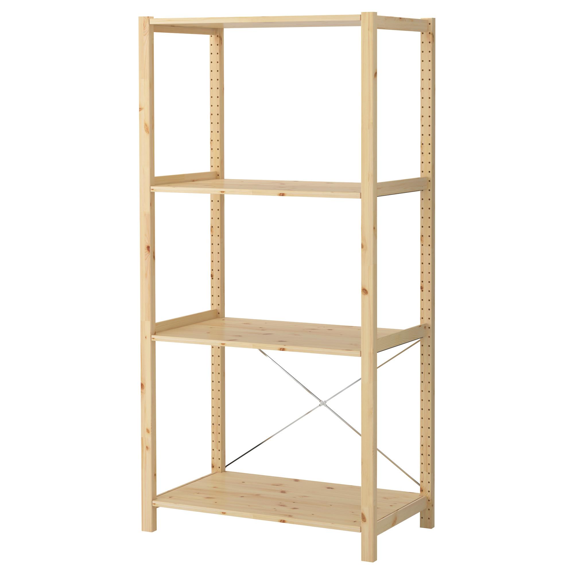 Стеллаж для хранения инвентаря деревянный, разборный (размер.