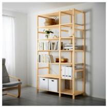 2 секции, полки ИВАР артикуль № 290.024.47 в наличии. Онлайн каталог IKEA Минск. Недорогая доставка и установка.