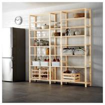 3 секции, полки ИВАР артикуль № 899.036.04 в наличии. Интернет каталог IKEA РБ. Недорогая доставка и монтаж.