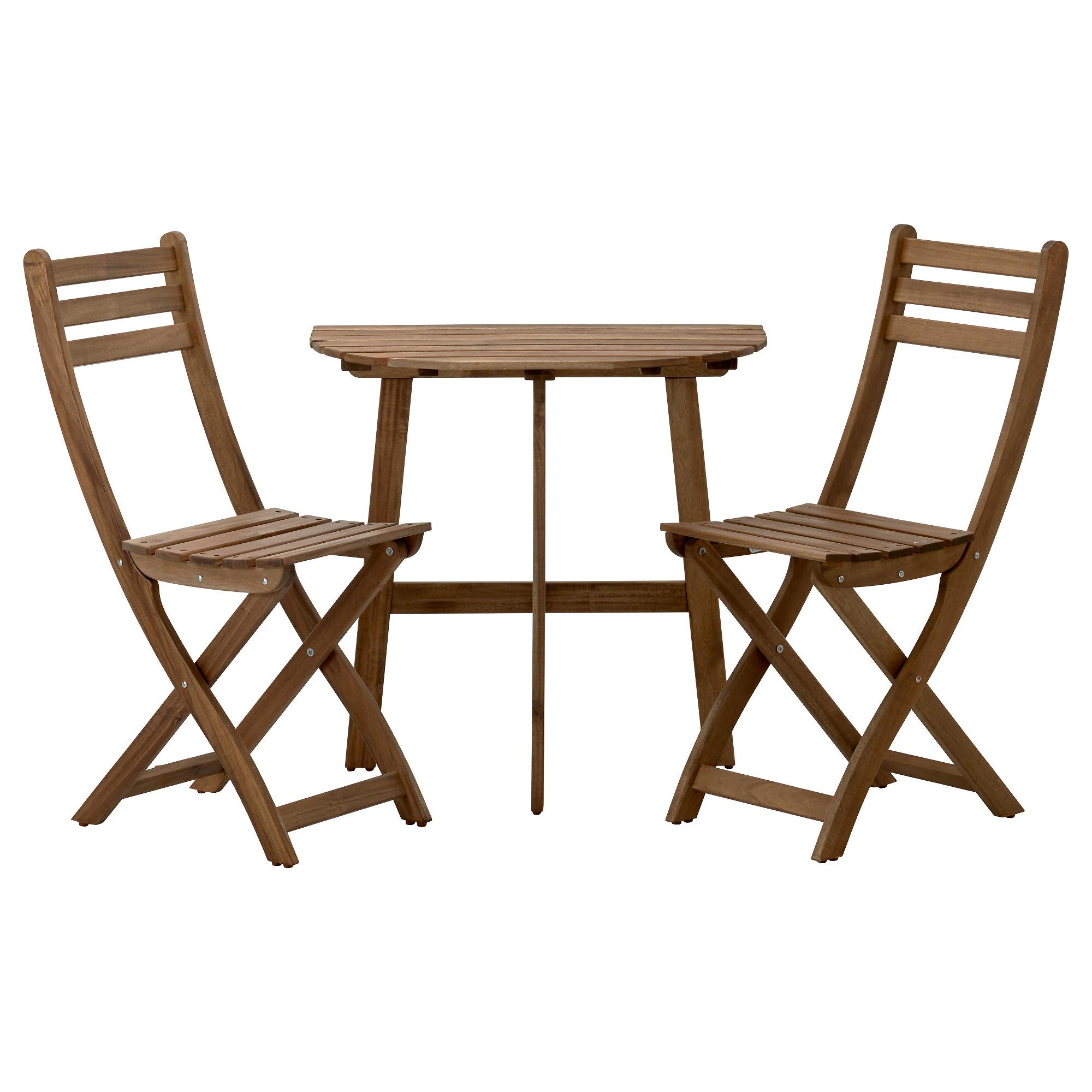 Купить балконный стол+2 складных стула аскхольмен, серый, ко.