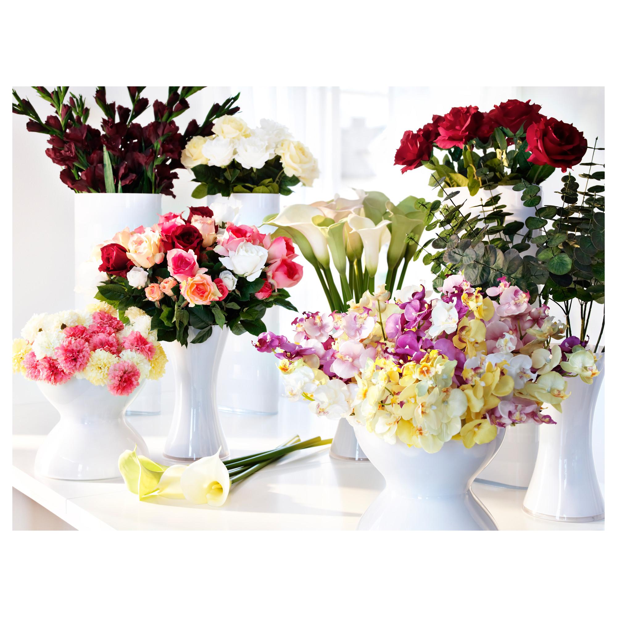 искусственные цветы из икеа в интерьере фото