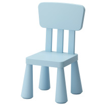 Детский стул МАММУТ голубой артикуль № 402.675.54 в наличии. Интернет магазин IKEA РБ. Быстрая доставка и монтаж.