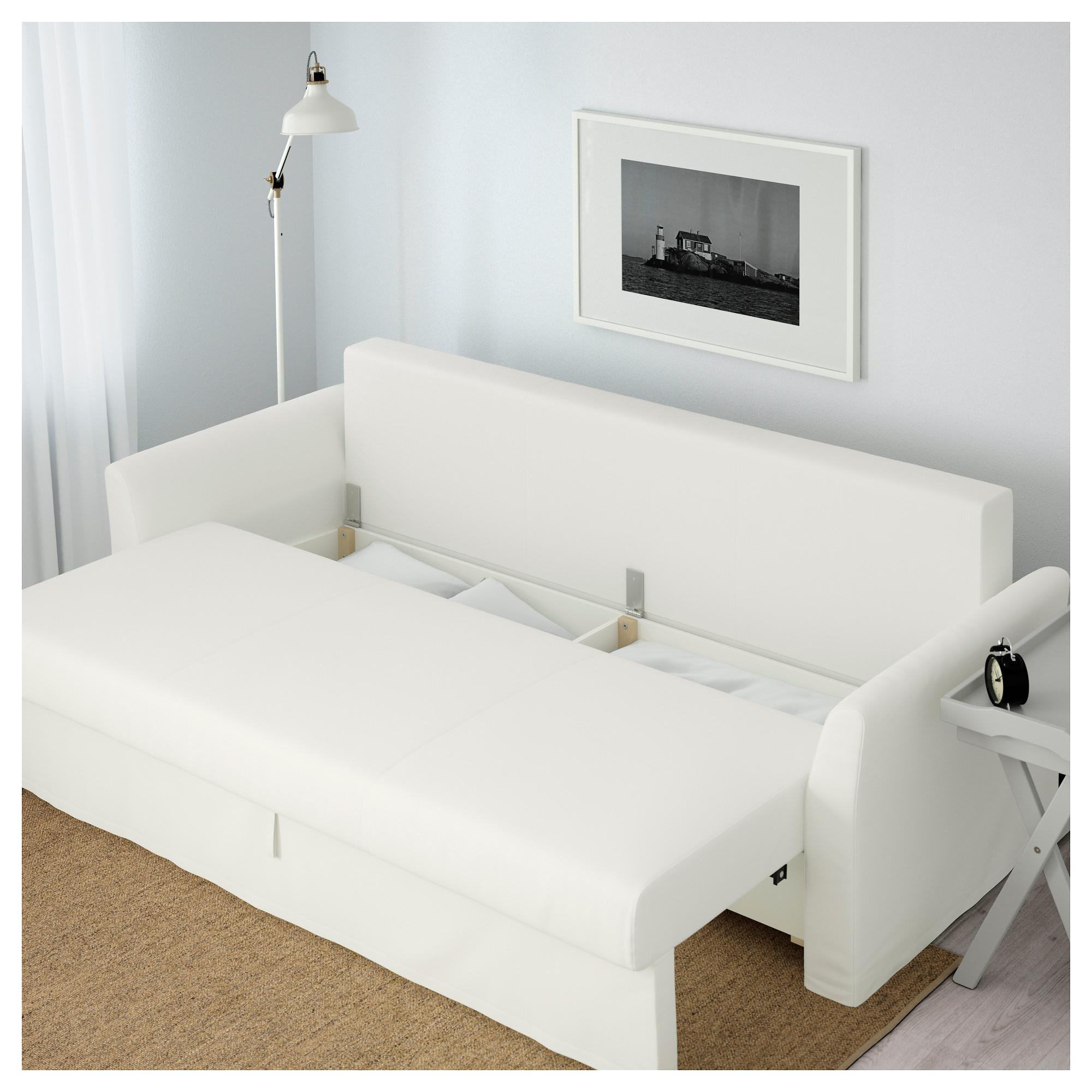 купить диван кровать 3 местный хольмсунд ранста белый в Ikea минск