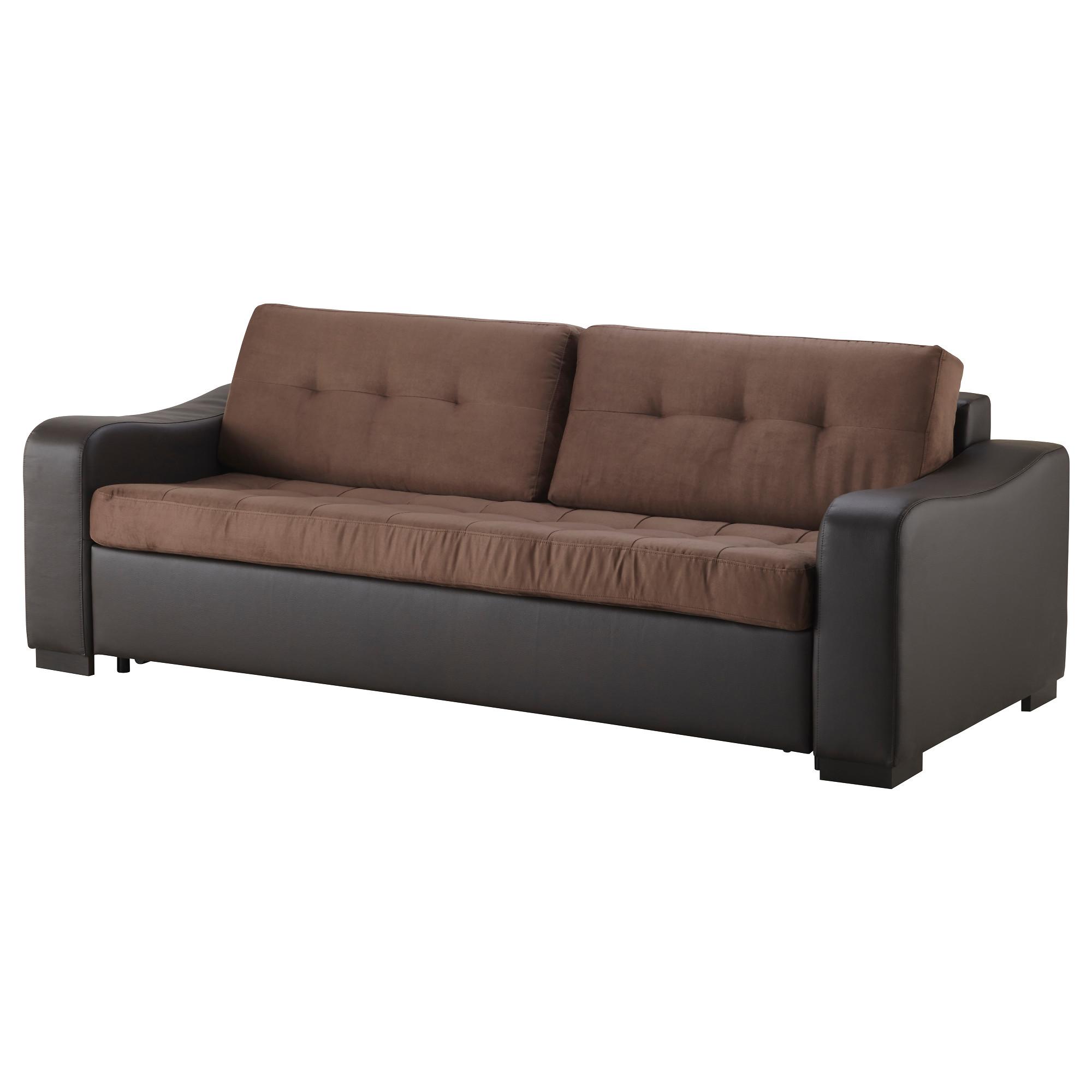 Купить диван-кровать 3-местный лиарум / лэннэс, оннарп корич.