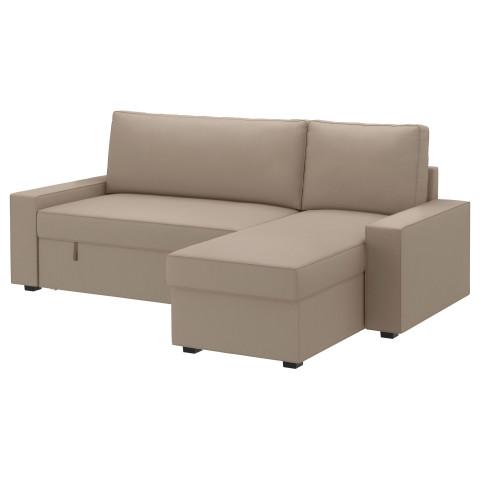 Диван-кровать с козеткой ВИЛАСУНД бежевый артикуль № 499.071.85 в наличии. Online магазин IKEA Беларусь. Недорогая доставка и установка.