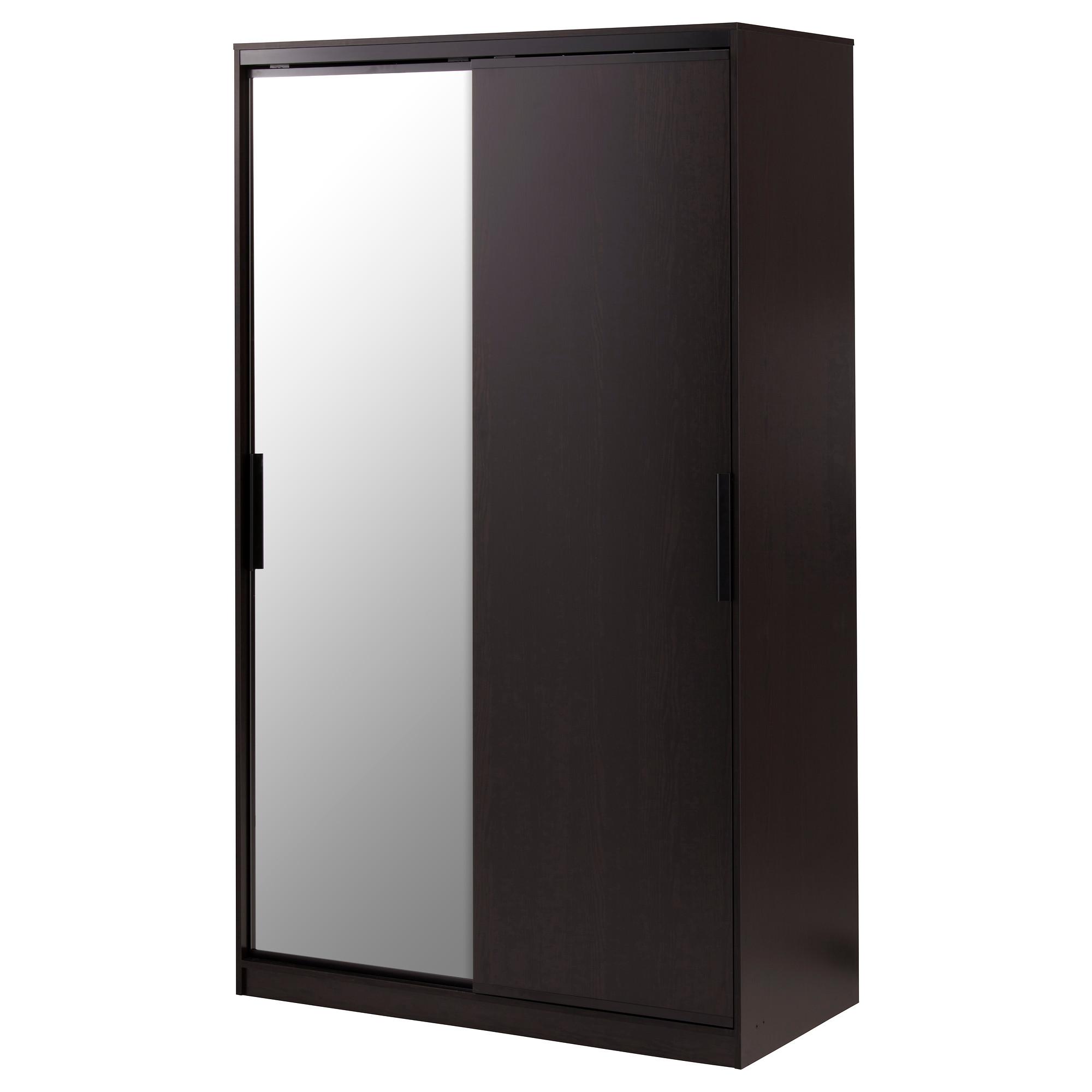 Купить гардероб морвик, черно-коричневый, зеркальное стекло .