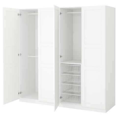 Гардероб ПАКС белый артикуль № 091.275.75 в наличии. Online магазин IKEA РБ. Быстрая доставка и соборка.