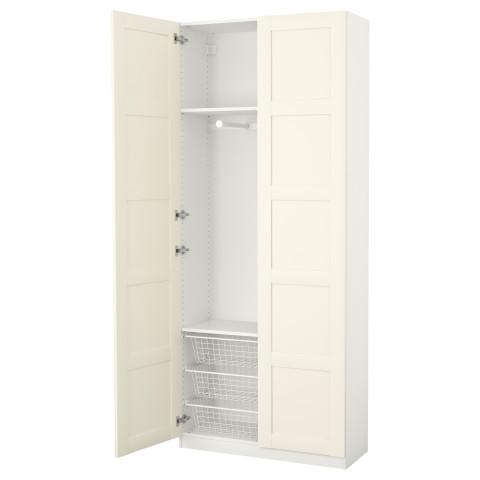 Гардероб ПАКС белый артикуль № 191.193.77 в наличии. Интернет магазин IKEA Минск. Быстрая доставка и установка.