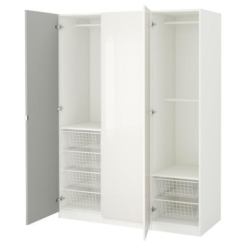 Гардероб ПАКС белый артикуль № 191.276.31 в наличии. Интернет магазин IKEA Беларусь. Недорогая доставка и соборка.