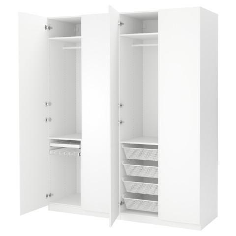 Гардероб ПАКС белый артикуль № 191.283.34 в наличии. Online магазин IKEA РБ. Недорогая доставка и установка.