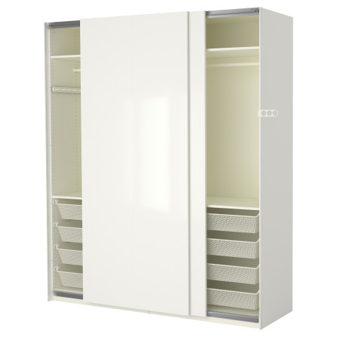 Гардероб ПАКС белый артикуль № 290.295.31 в наличии. Online магазин IKEA РБ. Недорогая доставка и установка.