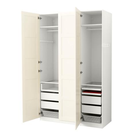 Гардероб ПАКС белый артикуль № 291.111.68 в наличии. Онлайн магазин IKEA РБ. Недорогая доставка и монтаж.