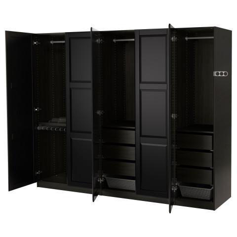 Гардероб ПАКС черный артикуль № 391.275.07 в наличии. Онлайн сайт IKEA РБ. Быстрая доставка и установка.