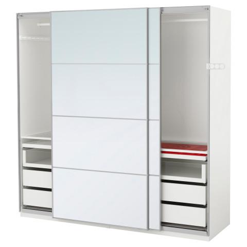 Гардероб ПАКС белый артикуль № 391.281.92 в наличии. Online магазин IKEA РБ. Недорогая доставка и монтаж.