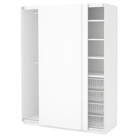 Гардероб ПАКС белый артикуль № 491.283.04 в наличии. Онлайн сайт IKEA РБ. Недорогая доставка и монтаж.