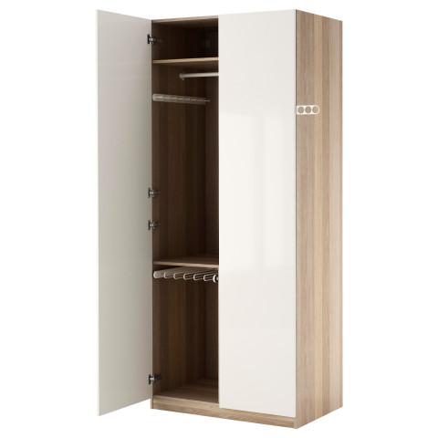 Гардероб ПАКС белый артикуль № 690.293.55 в наличии. Интернет магазин IKEA Беларусь. Быстрая доставка и соборка.