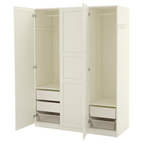 Гардероб ПАКС белый артикуль № 691.195.39 в наличии. Интернет каталог IKEA Минск. Недорогая доставка и соборка.