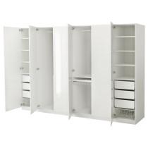 Гардероб ПАКС белый артикуль № 691.274.12 в наличии. Онлайн магазин IKEA Беларусь. Быстрая доставка и установка.