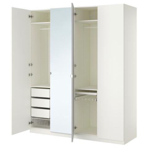 Гардероб ПАКС белый артикуль № 790.293.69 в наличии. Online магазин IKEA Минск. Быстрая доставка и соборка.