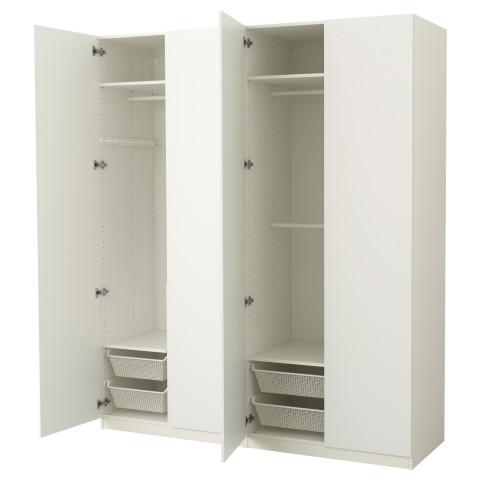 Гардероб ПАКС белый артикуль № 991.195.09 в наличии. Интернет каталог IKEA РБ. Недорогая доставка и соборка.