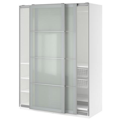 Гардероб ПАКС белый артикуль № 991.282.12 в наличии. Online магазин IKEA Минск. Быстрая доставка и установка.
