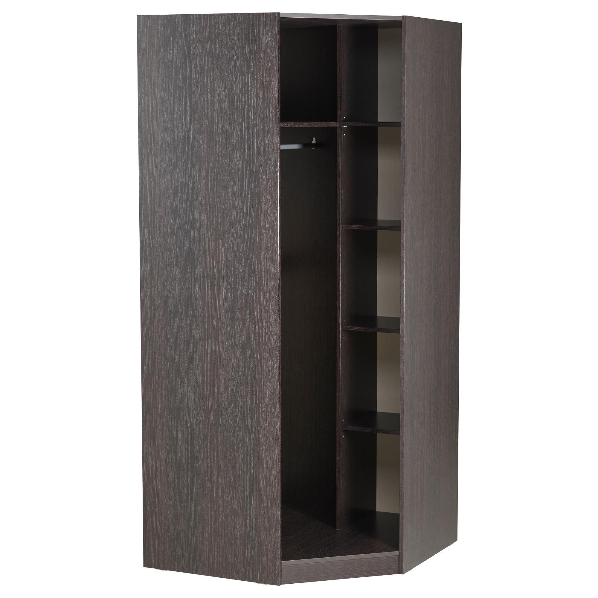 Купить гардероб угловой тодален, черно-коричневый в ikea (ми.