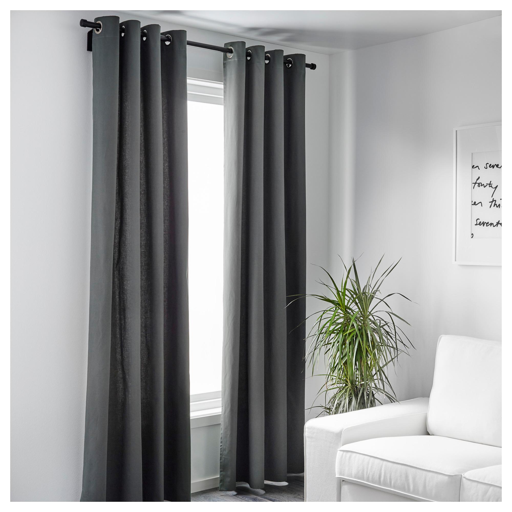 Grey curtains ikea