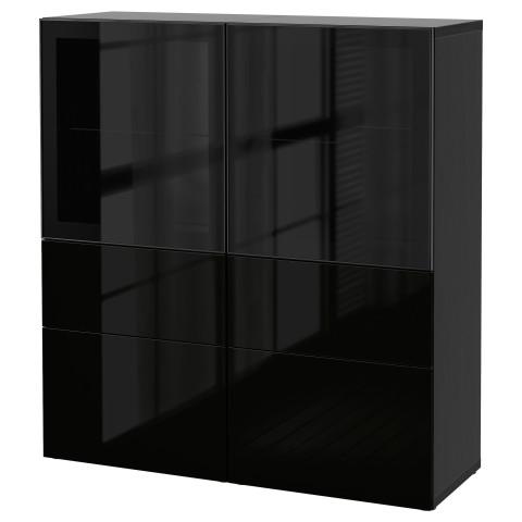 Комбинация для хранения со стеклянными дверцами БЕСТО артикуль № 290.897.75 в наличии. Online сайт IKEA Минск. Недорогая доставка и монтаж.