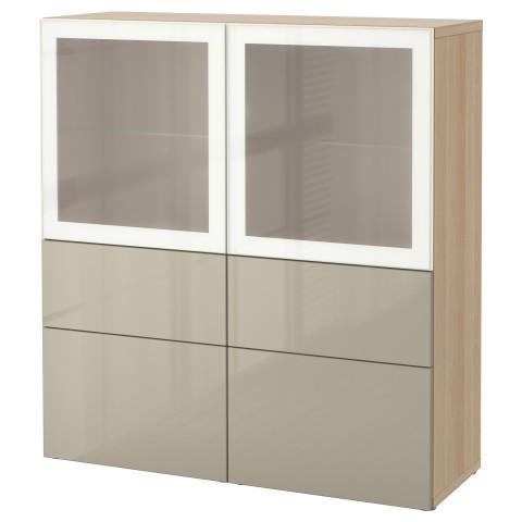 Комбинация для хранения со стеклянными дверцами БЕСТО артикуль № 490.898.78 в наличии. Онлайн сайт IKEA Республика Беларусь. Быстрая доставка и соборка.