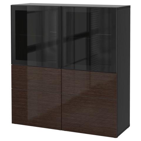 Комбинация для хранения со стеклянными дверцами БЕСТО артикуль № 690.897.78 в наличии. Онлайн каталог ИКЕА РБ. Недорогая доставка и монтаж.