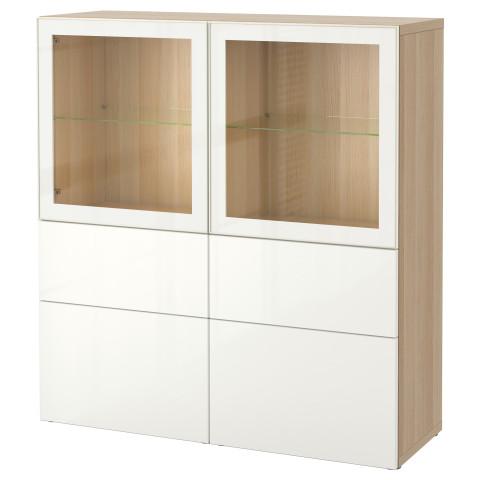Комбинация для хранения со стеклянными дверцами БЕСТО артикуль № 990.898.47 в наличии. Онлайн каталог IKEA Беларусь. Быстрая доставка и соборка.