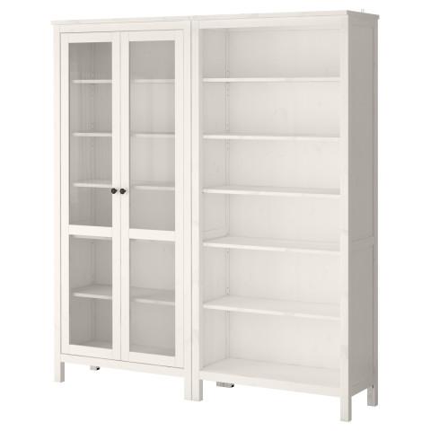 Комбинация для хранения со стеклянными дверцами ХЕМНЭС артикуль № 890.018.74 в наличии. Интернет сайт IKEA Минск. Быстрая доставка и монтаж.