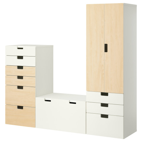 Комбинация для хранения СТУВА белый артикуль № 490.328.01 в наличии. Online сайт IKEA Республика Беларусь. Недорогая доставка и установка.