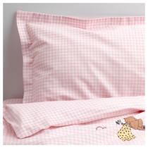 Комплект постельного белья, 3 предмета НАНИГ розовый артикуль № 902.824.39 в наличии. Онлайн магазин ИКЕА Минск. Недорогая доставка и установка.