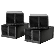 Коробка для обуви СКУББ черный артикуль № 301.933.75 в наличии. Интернет сайт IKEA Республика Беларусь. Недорогая доставка и установка.