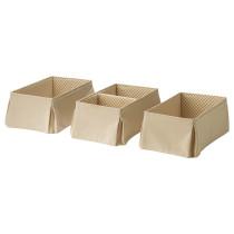 Коробка НАНИГ светло-бежевый артикуль № 002.786.44 в наличии. Интернет магазин IKEA Минск. Недорогая доставка и соборка.