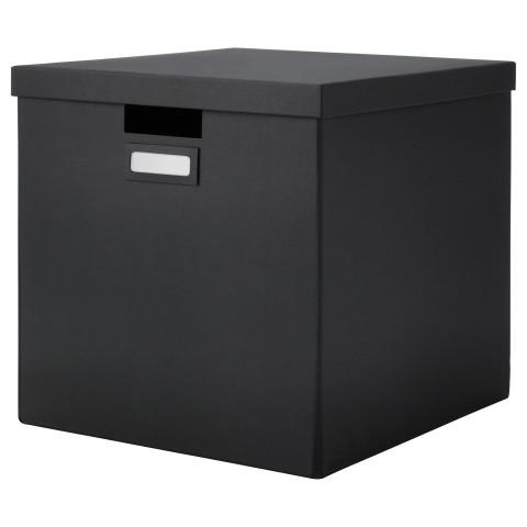 Коробка с крышкой ТЬЕНА черный артикуль № 002.636.33 в наличии. Онлайн магазин ИКЕА Беларусь. Быстрая доставка и соборка.