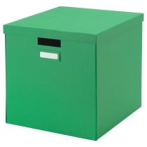 Коробка с крышкой ТЬЕНА зеленый артикуль № 802.919.91 в наличии. Интернет магазин ИКЕА РБ. Быстрая доставка и соборка.