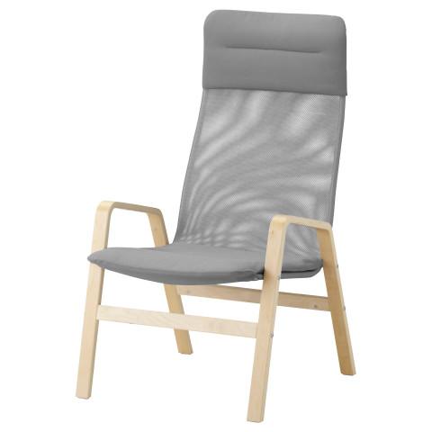 Кресло c высокой спинкой НОЛЬБИН серый артикуль № 702.335.34 в наличии. Онлайн сайт IKEA Минск. Быстрая доставка и соборка.