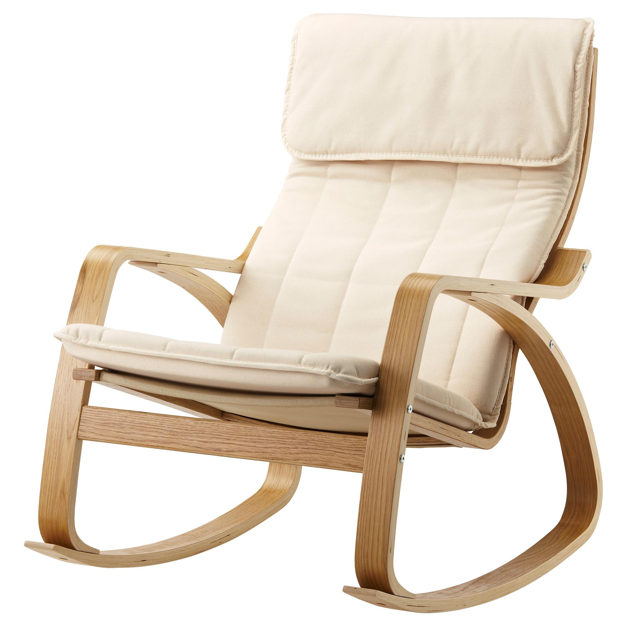 купить кресло качалка поэнг дубовый шпон ранста неокрашенный в