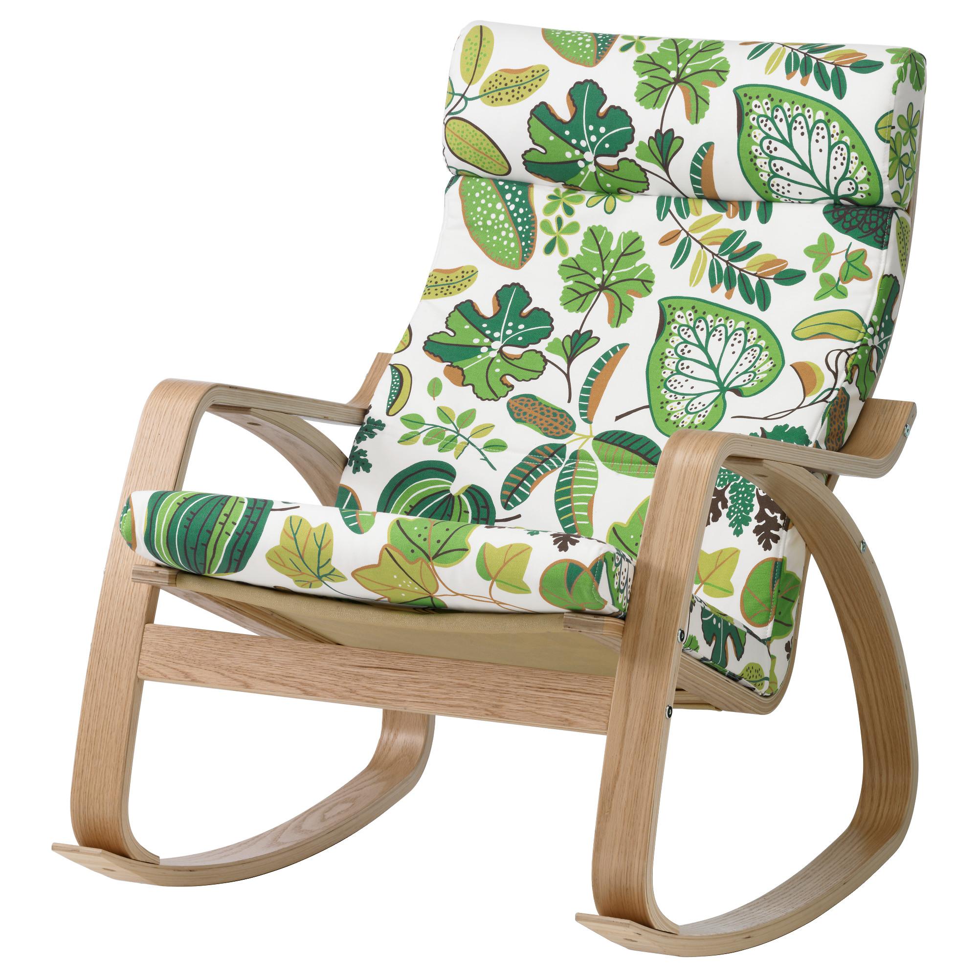 купить кресло качалка поэнг дубовый шпон симмарп зеленый в Ikea