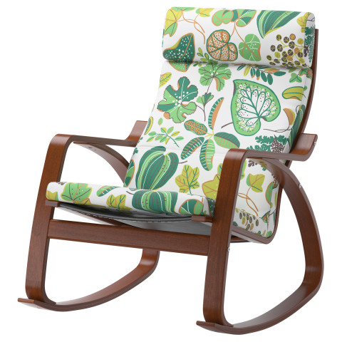 Кресло-качалка ПОЭНГ зеленый артикуль № 490.901.98 в наличии. Online магазин IKEA Беларусь. Быстрая доставка и монтаж.