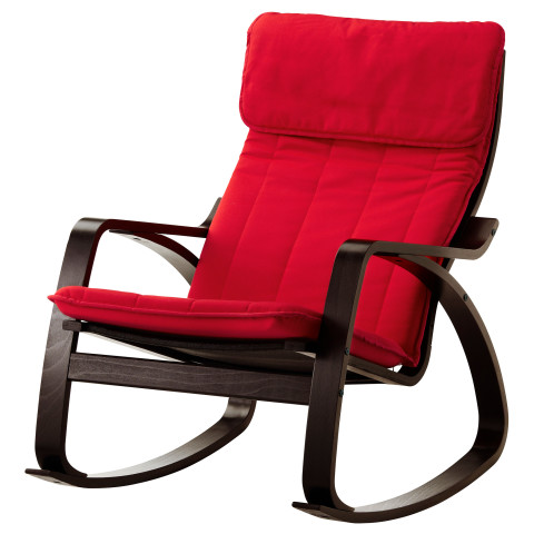 Кресло-качалка ПОЭНГ красный артикуль № 891.290.52 в наличии. Интернет сайт ИКЕА Минск. Недорогая доставка и установка.