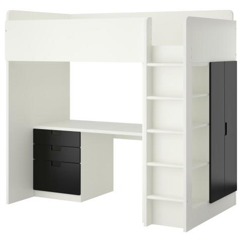 Кровать-чердак, 3 ящика, 2 дверцы СТУВА белый артикуль № 690.482.07 в наличии. Онлайн магазин IKEA РБ. Быстрая доставка и соборка.