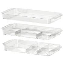 Набор контейнеров, 3 шт ГОДМОРГОН прозрачный артикуль № 401.649.47 в наличии. Online магазин IKEA РБ. Быстрая доставка и монтаж.
